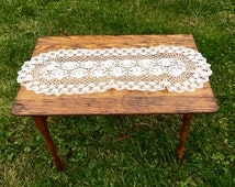 REDUCED! Antique salesman's sample- small wooden folding sewing table, beautifully made turned legs