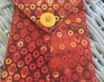 Phone Bags-(Tangy Orange n' Mango Circles)
