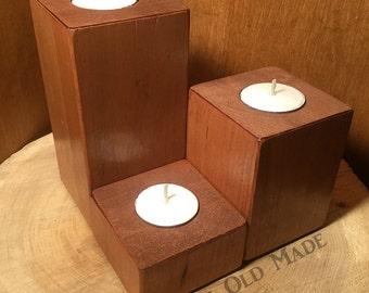 Rustic Candleholder Set (3)
