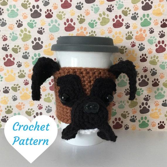 Crochet Boxer Pattern Amigurumi Pattern Dog by HookedbyAngel