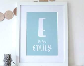 Framed A4 Personalised New Baby / Child Name Print