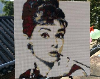 80cm*80cm Custom-made DIY lego-like brick mosaic