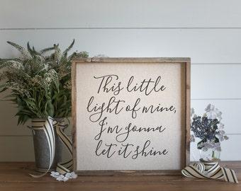Little Light  // 17x17 Handmade Sign