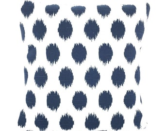Navy Blue Pillow Covers, Decorative Throw Pillows, Cushions, Throw Pillow, Couch Pillows, Decorative Pillow, JoJo Ikat One or More All Sizes