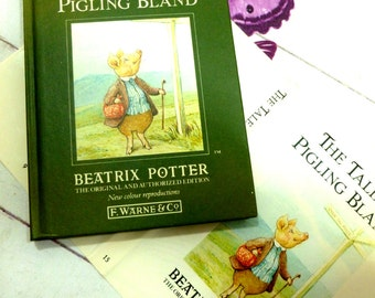 The Tale of Pigling Bland by Beatrix Potter Beautiful Illustrations Vintage 1989 Hardback Book Dust Wrapper