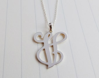Single Initial Necklace,Personalized Initial Necklace,One Letter Necklace,Personalized Initals Monogrammed Necklace,Silver initial Necklace