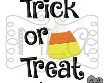 Trick or treat candy Embroidery design 4x4 5x7 - boo JEF file -baby girl halloween embroidery design - halloween diy - embroidery design