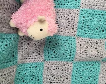 "Baby Blanket 26"" x 31"", Crocheted"