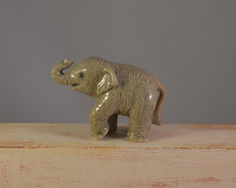 Vintage ceramic porcelain elephant !miniature,animal figure.