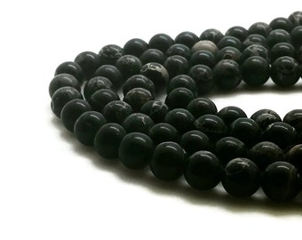 6mm Regalite Beads Black Round 6mm Regalite 6mm Black Jasper Aqua Terra Jasper Sea Sediment Jasper Impression Jasper Regalite Black Regalite