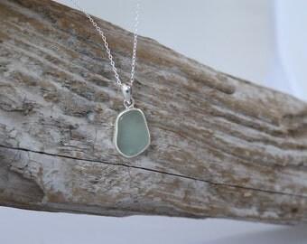 Sea Foam Sea Glass Necklace ~ Handmade by Tidal Treasures