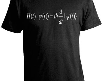 Schrodinger Equation T-Shirt - Science Shirts - Physics Tees - Erwin Schrodinger Tee - FREE SHIPPING U.S