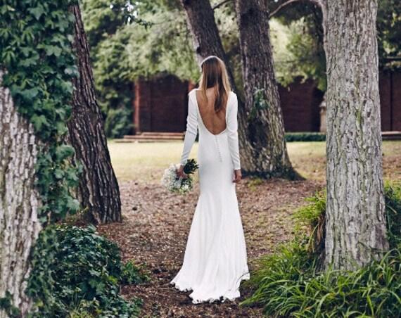 Backless Wedding Dress Simple Wedding Dress By AnnaSkoblikova