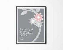 Flowers bloom even then, Issa, Motivational poster, Printable poster, Wall art, Instant download, Printable quote, Scandinavian poster