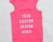 Custom Design for a Large Dog Shirt. Personalized Dog Shirt. Custom Screen Printed Large Dog Apparel. Custom Designed Logo.