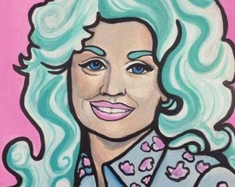 Pastel Dolly Parton Portrait