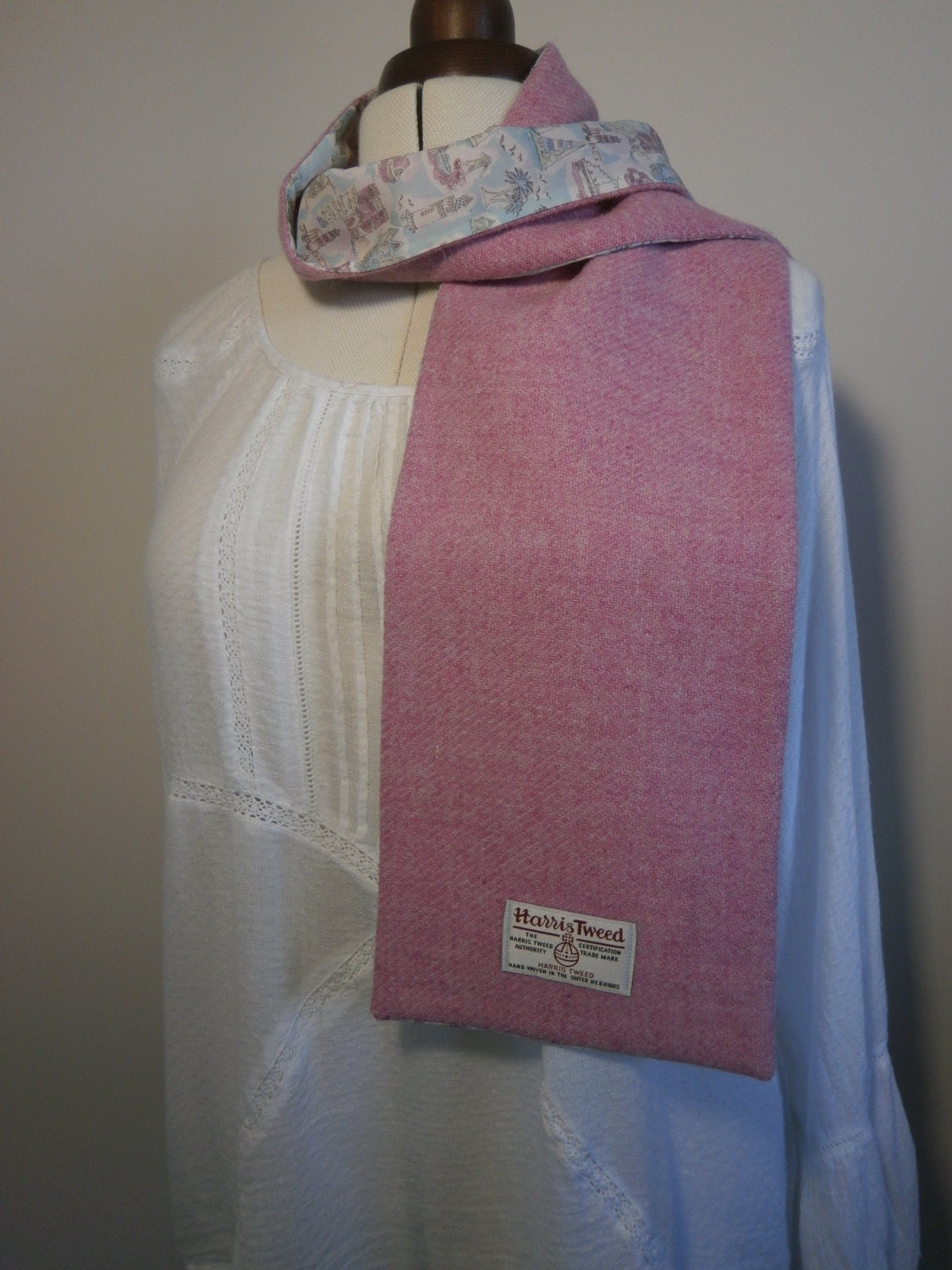 harris tweed liberty of scarf handmade