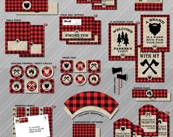 Lumberjack party - Lumberjack party supplies - Lumberjack party decor - Lumberjack birthday decorations - Lumberjack signs, banner & more