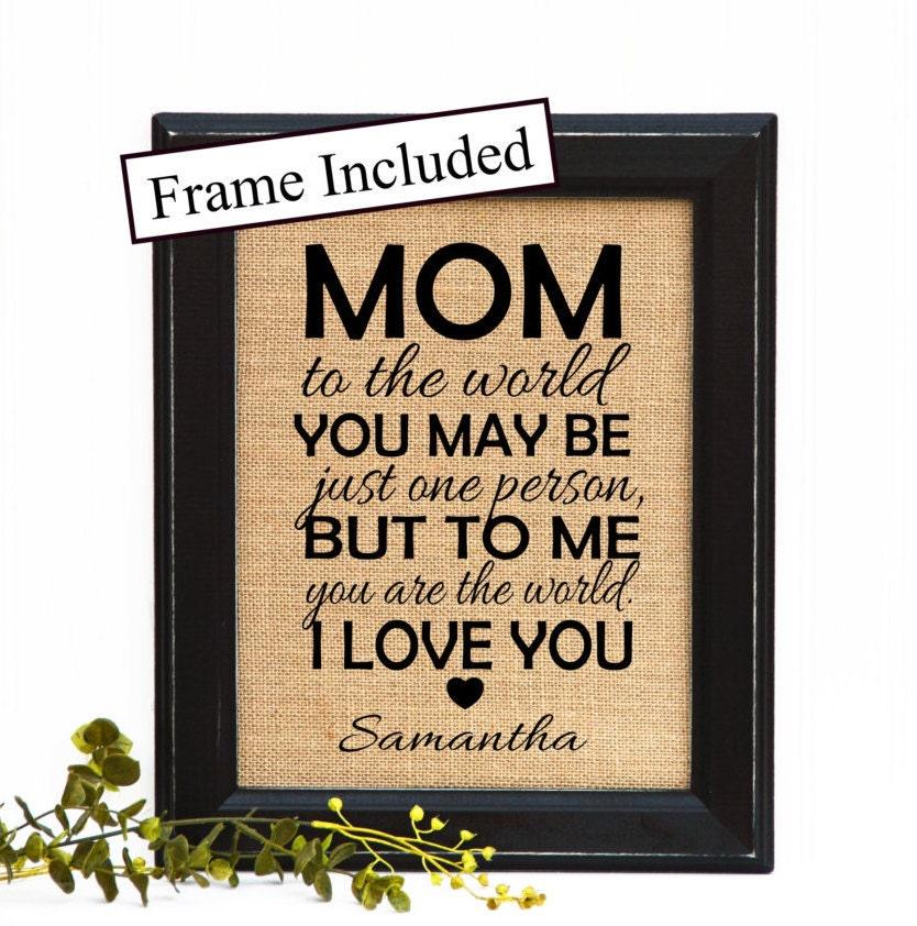 Mom Birthday Gift From Son Mom Birthday By