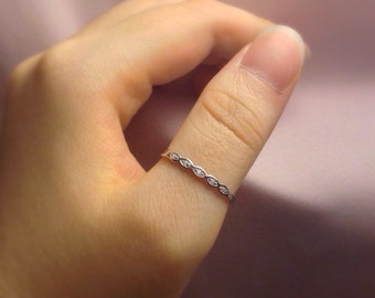 Sterling Silver Thumb Ring for Women   Stacking Ring   Stack Ring   Stackable Ring   Fashion Ring   Women Thumb Rings   Silver Band Ring  