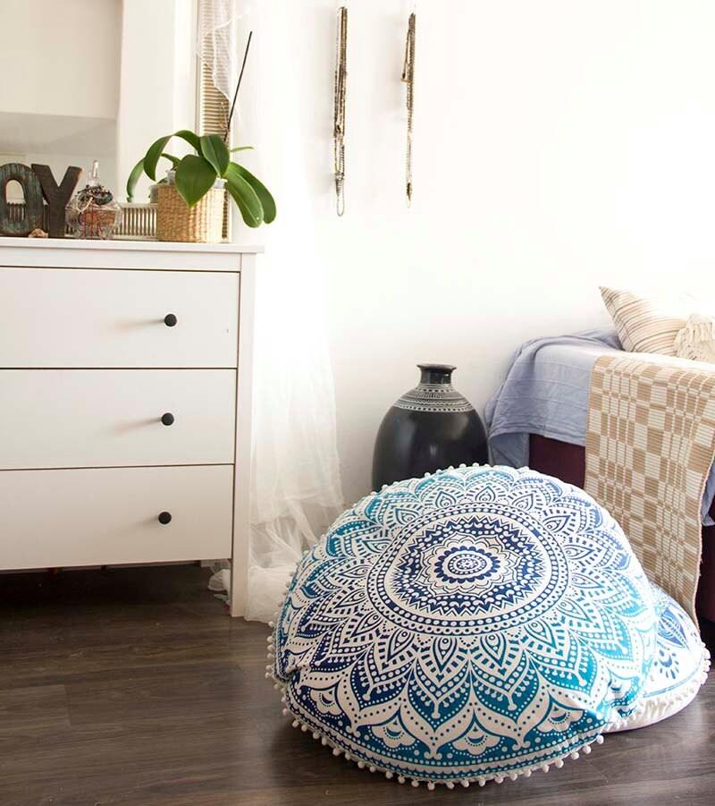 Poufs Floor Cushion Seating Area Meditation Cushion Floor
