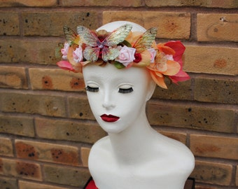 Spring Time - Summer - Autumn Fairy/Faerie Queen/Fairy Wing/Butterfly/Pagan Flower Crown/Headdress - Costume/Cosplay