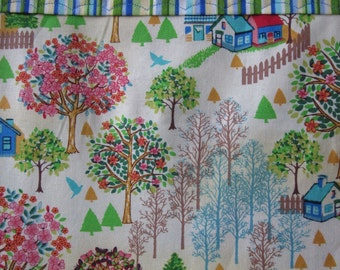 Springtime Village Pillowcase, Spring pillowcase