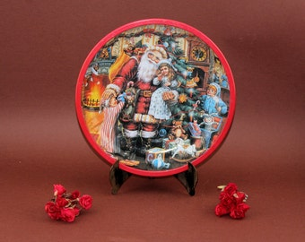 Vintage Servier plate cake plate biscuits plate Servier Bowl 50s Plate Christmas decor cookies plates Santa Claus