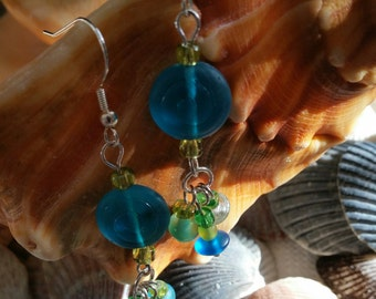 Summer glass bead dangles