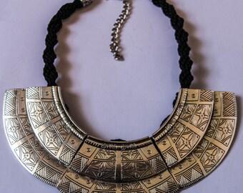 Statement metal necklace