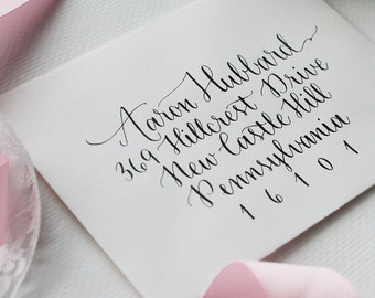Wedding Envelope Addressing for Invitations   Custom Calligraphy for Invitations   Regina Style