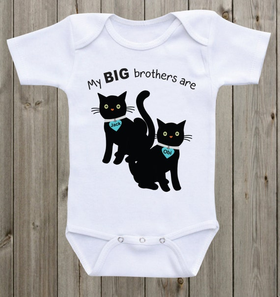 My Big brothers are cats baby onesie Cat baby shirts Cat lover