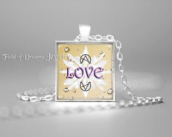 EMOTO LOVE AFFIRMATION Necklace Love Affirmation Pendant Attract Love Frequency Necklace Love Frequency Pendant Attract Love Gift