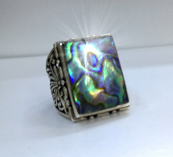 925 silver ringjewelrymen ringsmother of pearl by