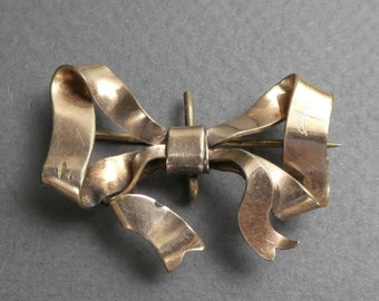 Gold filled bow brooch