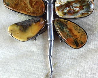 Baltic Amber Butterfly Pendant/Broach