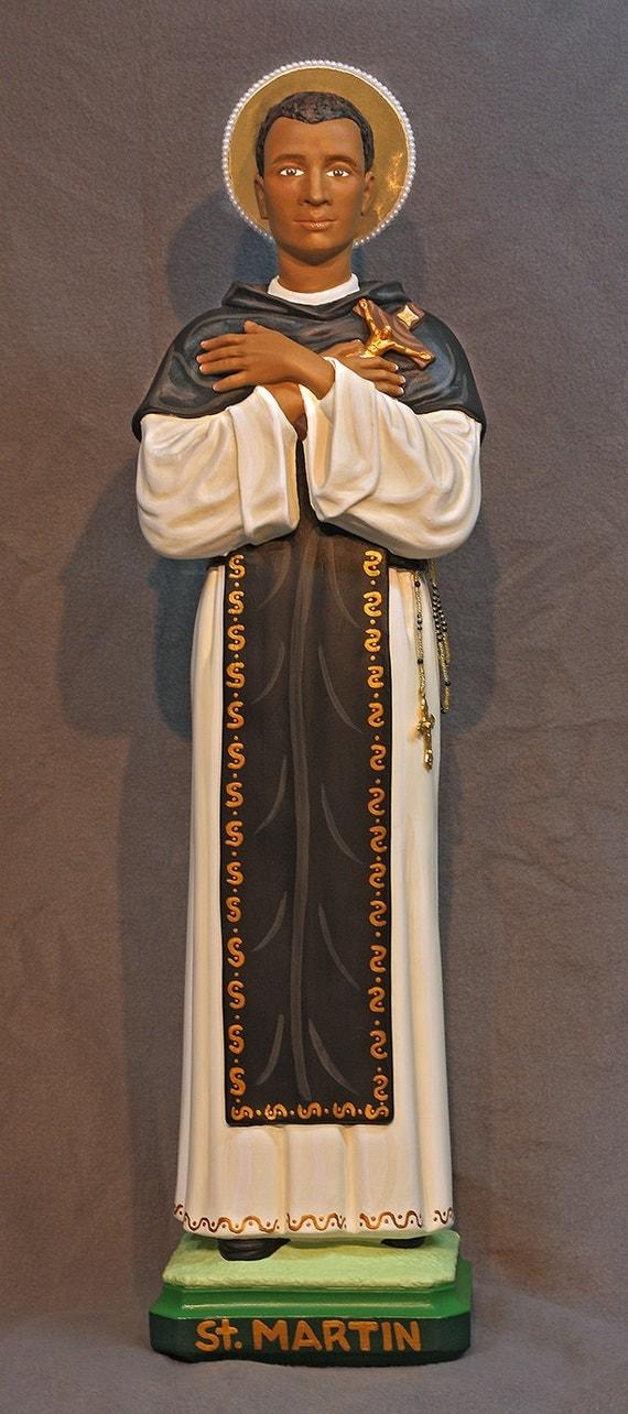 "St. Martin De Porres 26"" Catholic Christian Religious Plaster Saints Statue"