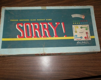 Vintage 1958 SORRY Board Game
