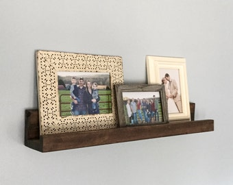 Rustic Wooden Picture Ledge, Floating Shelf, Gallery Wall, Gallery Wall Shelf
