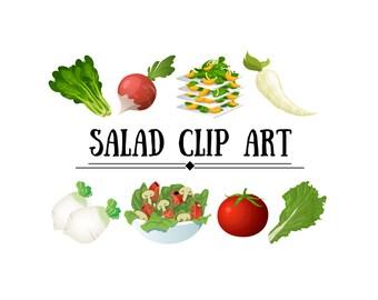 Salad Clip Art - Clip Art Salad, Clip Art Greens, Clip Art Tomato, Clip Art Vegetales, Clip Art Lettuce, Clip Art Radish, Clip Art Lunch