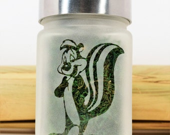 Pepe Le Pew Stash Jar | Weed Accessories, Stash Jars and Stoner Gifts | Ganja Gift Ideas | Cannabis Christmas Gifts for Her