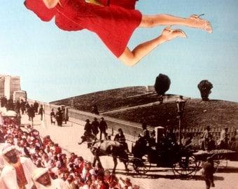 Original Collage Artwork Print - Vintage Street Parade