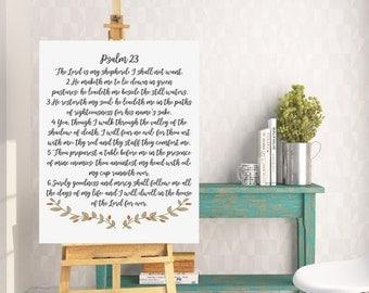 Psalm 23 Bible Verse Art, Scripture Typography, The Lord is my shepherd, Psalm 23, Wall art print, Bible verse print, BP1