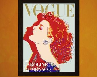 Vogue Cover Print Andy Warhol 1984 - Vintage Fashion Illustration Fashion Fashion Print Feminine Fashion Art   bpt