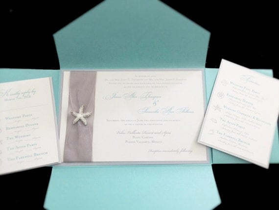 Etsy Beach Wedding Invitations: Beach Themed Wedding Invitation By FancyFunctionDesigns On