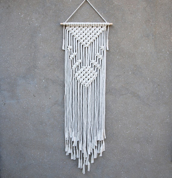 Wall Decor With Rope : Macrame wall decor rope hanging bohemian christmas