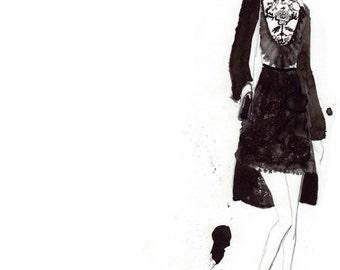 Elie Saab FW16 01 Fine Art Print