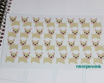 Blonde French Bulldog Puppy Stickers