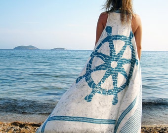 Pareo dress, Summer coverup, Beach cover up, Summer dress, Beach dress WHEEL BLOSSOM