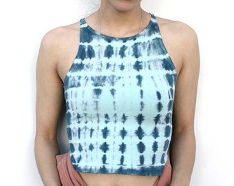 Tie-Dye Crop Top-Festival Clothing-Yoga Crop Top-Workout Crop Top-American Apparel